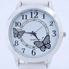 Fashion White Dial Butterfly Retro Girl  Leather Quartz Crystal New Wrist Watch