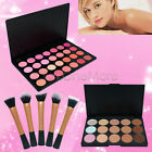 Bronzer 15 Concealer / 28 Blush Highlight Palette Powder Brush Face Makeup