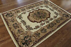 FLORAL IVORY ORIENTAL RUG CARPET UP TO 8X11 MANY SIZES HEAT SET PILE