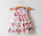 Girls Kids Children Guess New Pink Vest Sleeveless Floral Lace party dress 2-6yr