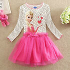 UK05231 New Hot Pink Party  Frozen Princess Girls Dress Age 3 to 8