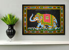 elephant sequin wall hanging ethnic handmade tapestry indian asian art deco gift