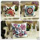 BN Vintage Cotton embroidery Couch Sofa Cushion Cover Throw Pillow Case Flower