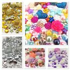 100 x Mixed Flatbacks Hearts Resin Pearls Bow Flower Embellishments Cabochon