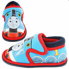 Boys Size 5 - 10 Blue Red THOMAS THE TANK ENGINE Velcro Slippers NEW Marsh