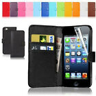 New Wallet Flip Leather Phone Case Cover For Apple iPhone Samsung Galaxy Free