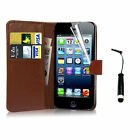 For Apple iPhone 4 5 5S Free Screen Protector Wallet Flip Leather Case Cover on Rummage
