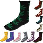 Weed Cannabis Marijuana Pattern Plant Winter Socks