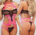 Sexy Lingerie Babydoll Bra Nightie Underwear Catsuit Teddy Bodysuit Pink Yellow