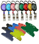 Premier Yo Yo Retractable Badge Reel Holder With Double Sided ID Card Holder lot