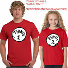 THING 1 THING 2 DR.SEUSS T SHIRT  ALL SIZE ADULT / YOUTH SHORT AND LONG SLEEVE