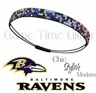 Baltimore Ravens Team Color Womens Rhinestone Bling Headbands Wear w/ Jersey
