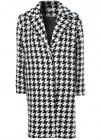 Glamorous Women's Houndstooth Checked Midi Length Car Coat