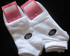 6 x Ladies Trainer Socks/Liners Black/White Size 4/7 Gym Sport Exercise