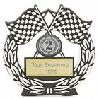 Budget Plaque Motorsport Trophy In 3 Colours & Free Engraving up to 30 Letters