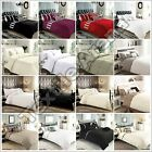 New Modern Pleated Duvet Quilt Cover Bedding Set With Pillow Cases All Sizes