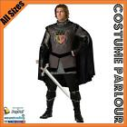 Mens Medieval Dark Knight King Arthur Game Of  Thrones Costume All Sizes
