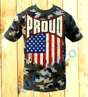 Men's Proud US Flag Camo T Shirt S-2XL American USA Military Army Camouflage Tee