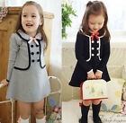 trendy Kid child Girls Clothing Princess Long Sleeve Tutu Dress Skirt Sz2-7Y