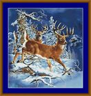 DEER IN WINTER -  14 COUNT CROSS STITCH CHART (DMC THREADS) FREE PP WORLDWIDE