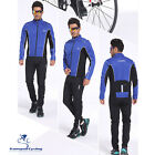 Windproof Waterproof Cycling Bike Jersey Trousers Set Fleece Lined Clothing