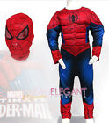 Marvel Ultimate Spider-Man Muscle Deluxe Children Boy Kids Halloween Costume 3-6