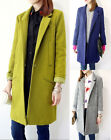 New Fashion Women's Wool Blend Outwear Long Jacket single-breasted Trench Coat