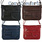 Ladies Leather Style Shoulder / Cross Body Bag with Organiser Section