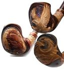 New DIFFICULT HAND CARVED 9 mm Filter Tobacco Smoking Pipe Pipes Handmade + Gift