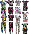 GIRLS COMIC BOOK ONE DIRECTION GRAFFITI SCRIBBLE PRINT CROP TOP DRESS LEGGING