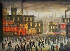 Lowry Our Town Stretched Canvas Multi Size Wall Art Poster Print Painting LS