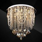 Clear / Yellow Crystal Pendant Lamp Light Ceiling Suspension Hanging Chandelier