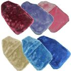 Luxuriant Soft Fur Hot Water Bottle Cover with Ribbed Rubber Hot Water Bottle