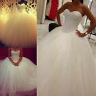 New White/Ivory  Bridal Gown Wedding Dress Custom Size:6/8/10/12/14/16/18/20