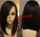 sexy bob short 100% Brizilian remay human hair full/front lace wig 130% density