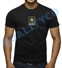 Men's Army Strong Military Black T Shirt Muscle Beast Gym Workout Fitness Tee