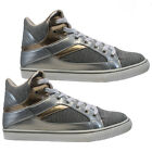 LADIES HI TOPS TRAINERS WOMENS LACE UP ANKLE CANVAS BOOTS SHOES PLIMSOLLS SIZE