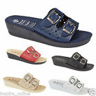 LADIES WOMENS  BEACH SUMMER GIRLS CASUAL SLIP ON MULE SANDALS FLIP FLOPS SHOES