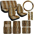 15pc Premium Animal Print Seat Covers and Front & Rear Floor Mats