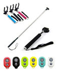 Wireless Bluetooth Remote Shutter + Tripod Monopod for iPhone Cell Phone