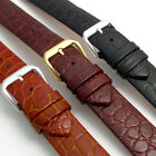 CONDOR Slim Padded Genuine Leather Watch Band Strap Croc Grain 18mm 20mm 244R
