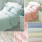PINSONIC bedding quilt duvet covers OR bed spreads throws blue mint cream white