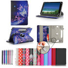 """360° Universal 7"""" Inch PU Leather Wallet Case Cover Stand For Various Tablets"""