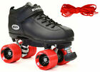 Riedell Dart Quad Roller Derby Speed Skates Bonus 2 Pair Laces (Red & Black)