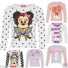 NEW OFFICIAL DISNEY KIDS INFANT PRINTED GIRLS CHARACTER ROUND NECK TOP T SHIRT