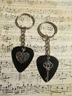 He Holds The Key To Her Heart Guitar Pick Key Chain Set! 2 color options!