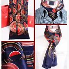 Gift!  Mens 100%  Silk Mulberry  Long scarf Scarives Double Layer Blue Red
