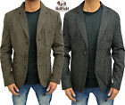 Mens Designer Bellfield Jacket Casual Regular Fit Suit Coat Blazer Herringbone
