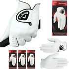 CALLAWAY GOLF GLOVES DAWN PATROL LEATHER MENS GOLF GLOVES 3 PACK NEW *2018*