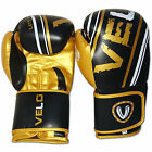 VELO Rex Leather Boxing Gloves Fight Punch Bag MMA Muay Thai Pads GLD
